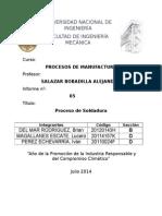 Informe # 5 Procesos de Manufactura - Torno