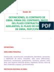 Sesión 16 El Contrato de Obra, Adelantos, Plazos, PERT-CPM