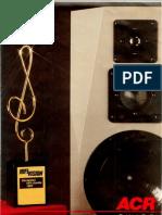 ACR Lautsprecher Katalog 1989