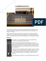 Audix Broadcast ADD9000 Radio Desk guide