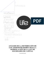 Analisis de La Retribucion de Los Administradores Tras La Modificacion de La Ley de Sociedades de Capital