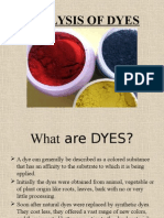 Analysis of Dyes