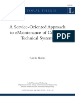 A Service-Oriented Approach to EMaintenance of Complex Technical Systems