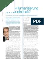 Die Re-Humanisierung Der Gesellschaft?