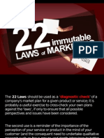 22 laws of marketing