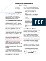 Systems Thinking Overview