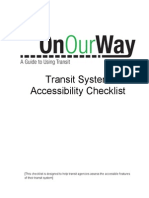 On Our Way-Accessibility Checklist En