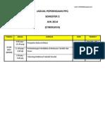 Jadual Peperiksaan Akhir Ppg Kohort 3 - Semester 2