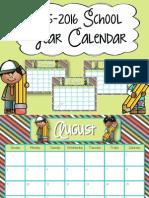 calendar 2015 - 2016