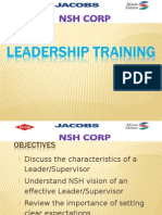 Supervisor Training Leadership