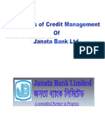 Analysis of Credit Management of Janata Bank