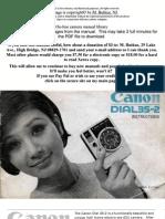 Canon Dial35-2 MANUAL