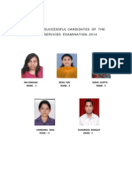 Top Five Cse 2014 Candidates