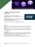 Aesthetics, Government, Freedom - Tony Bennett