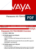 Avaya vs Panasonic KX-TDA100 and 200vs