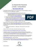 Stack Overflow - Perguntas e Respostas - Tema Programação