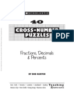 40 Cross-Number Puzzles Fractions, Decimals & Percents
