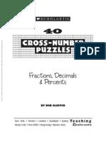 40 Cross-Number Puzzles Fractions, Decimals & Percents