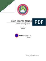 Wuletaw; Non-Homogeneous DE
