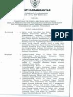 SK Pembentukan Tim Kelompok Kerja Kawasan Kumuh