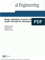 Range estimation of passive infraredtargets through the atmosphere