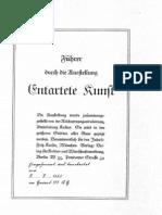 Kaiser, Fritz - Fuehrer Durch Die Ausstellung 'Entartete Kunst' (32 S., Scan, Fraktur)