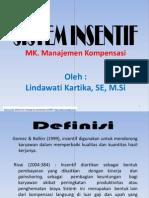 Sistem insentif karyawan - MSDM
