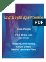 DIGITAL SIGNAL PROCESSING SAMPLING