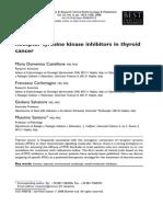 Inhibidores de Receptor Tirosina Kinasa en CA Tiroideo