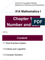 FHMM1014 Chapter 1 Number and Set