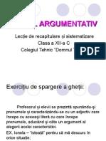 Textul argumentativ PPT