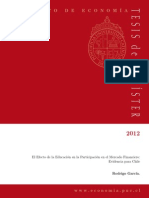 El Efecto de la Educación en la Participación en el Mercado Financiero