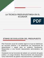 La Tecnica Presupuestaria en El Ecuador