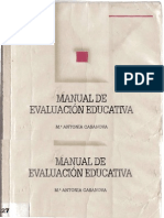 manual de evaluacion educativa - ma  antonia casanova