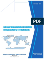 International Journal of Research in Management & Social Science  Volume 2, Issue 4 ( I ) October – December , 2014