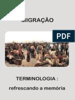 Terminologia migraçao