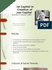 social capital in the creation of human capital - eyad alfattal