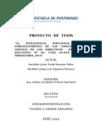 La inteligencia emocional y la gestion de irectores en la ugel 01   Lima Peru
