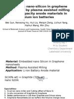 Nano Si Embedded Graphene Nanosheet - Presentation