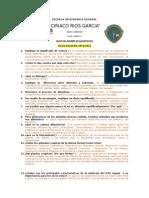Examen de Diagnostico y Clave 2014 2015
