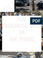 La Delincuencia en El Perú