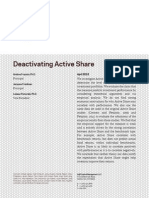 AQR Deactivating Active Share
