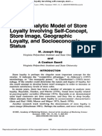 a Path Analytic Model of Store Loyalty Involving Self-Concept, Store Image...