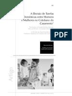 A Divisão de Tarefas Domésticas entre Homens e Mulheres no Cotidiano do Casamento