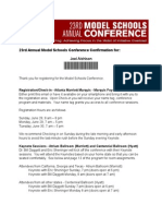 model schools conference confirmation form