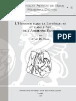 SABMD4 Van de Walle B. L'Humour Dans La Littérature Et Dans l'Art de l'Ancienne Égypte