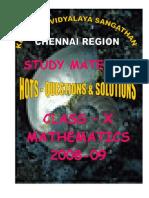 Class – x Mathematics 2008-09