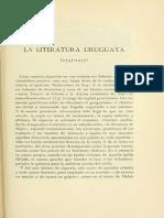 Calderón Barbagelata - La Literatura Uruguaya 1757-1917 en Revue Hispanique t. Xl 1917