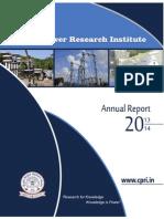 Annual Report of CPRI 2013-14