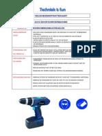 veiligheidsinstructiekaart accu boormachine